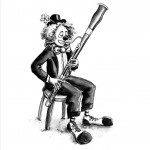 Clown bassoon - larger background